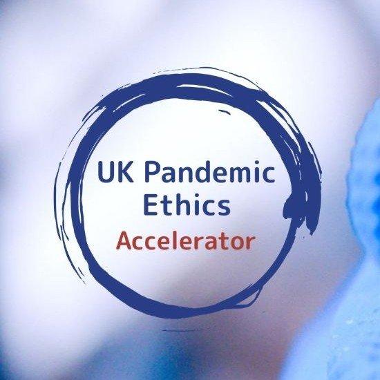 UK Pandemic Ethics Accelerator logo against a blurred background